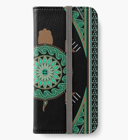 Green Turtle iPhone Wallet