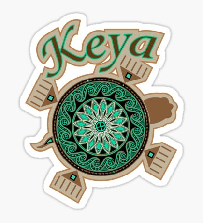 Green Turtle Keya Sticker