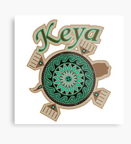 Green Turtle Keya Metal Print