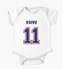Saku Koivu #11 - white jersey One Piece - Short Sleeve