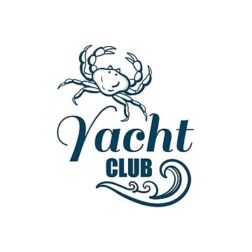 Yacht Club Badge With Crab by Chesnochok