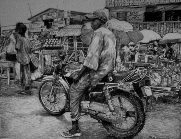 on the town by African Pencil