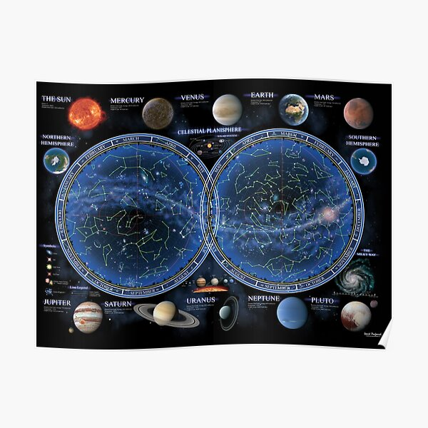 Celestial Planisphere Poster