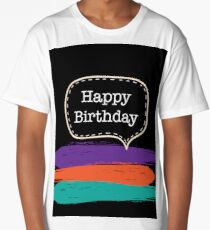 Groovy Birthday Card Long T-Shirt