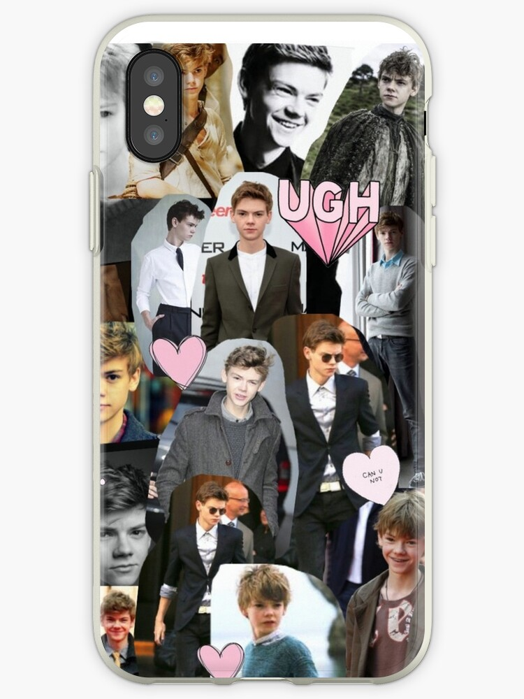 promo code fc3dd 992cf 'Thomas Brodie-Sangster Collage' iPhone Case by runnerdemigod