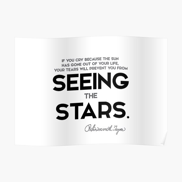 seeing the stars - rabindranath tagore Poster
