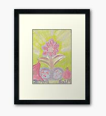 Painted Pastel Plant Framed Print