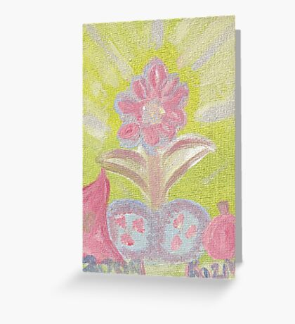 Painted Pastel Plant Greeting Card