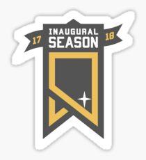 Vegas Golden Knights Inaugural Season Patch Sticker