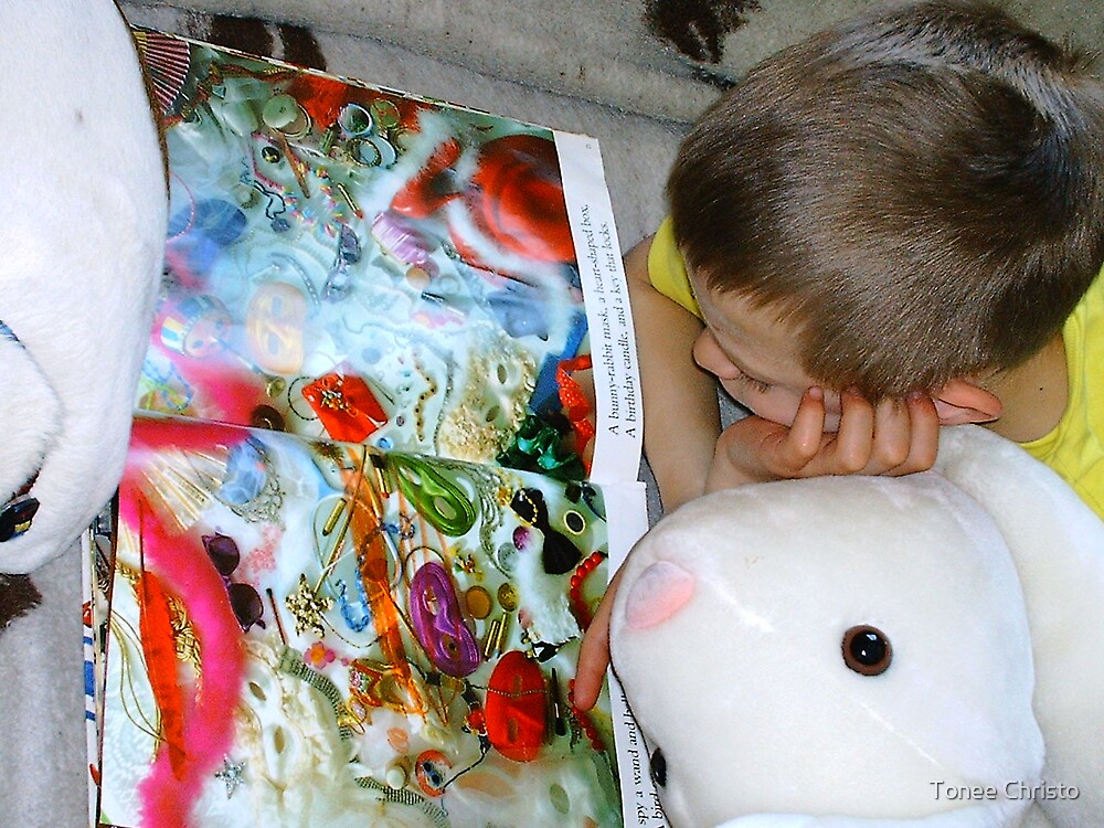A Boy and his Rabbit by Tonee Christo