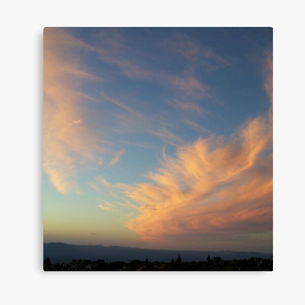 swooping clouds at sunset on Mt Read, Rosebery, Tasmania Canvas Print