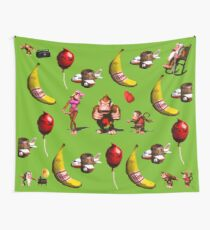 Donkey Kong Country Collage Wall Tapestry