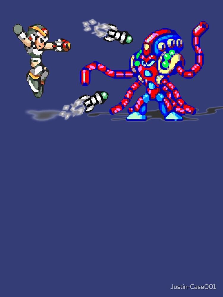 Mega Man X vs. Launch Octopus by Justin-Case001