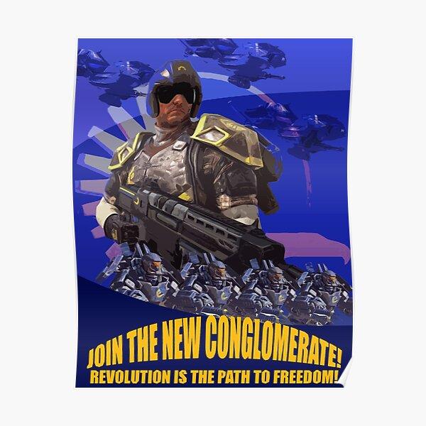 Trete dem Neuen Konglomerat bei Poster