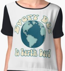 Every Day is Earth Day - True Blue Chiffon Top