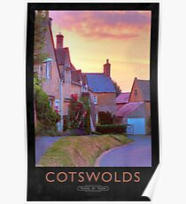 Cotswolds Railway Poster Poster