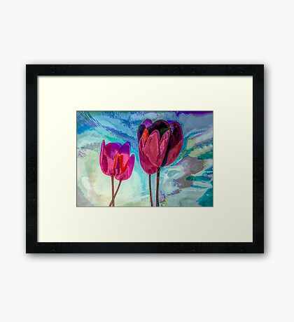 "TULIPS 3  (From ""Painted flowers"" collection) Framed Print"