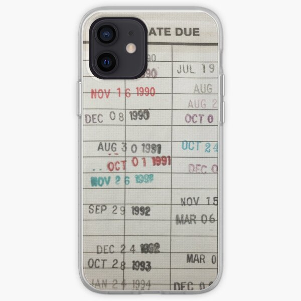 Library Cards iPhone Soft Case