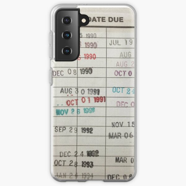 Library Cards Samsung Galaxy Soft Case