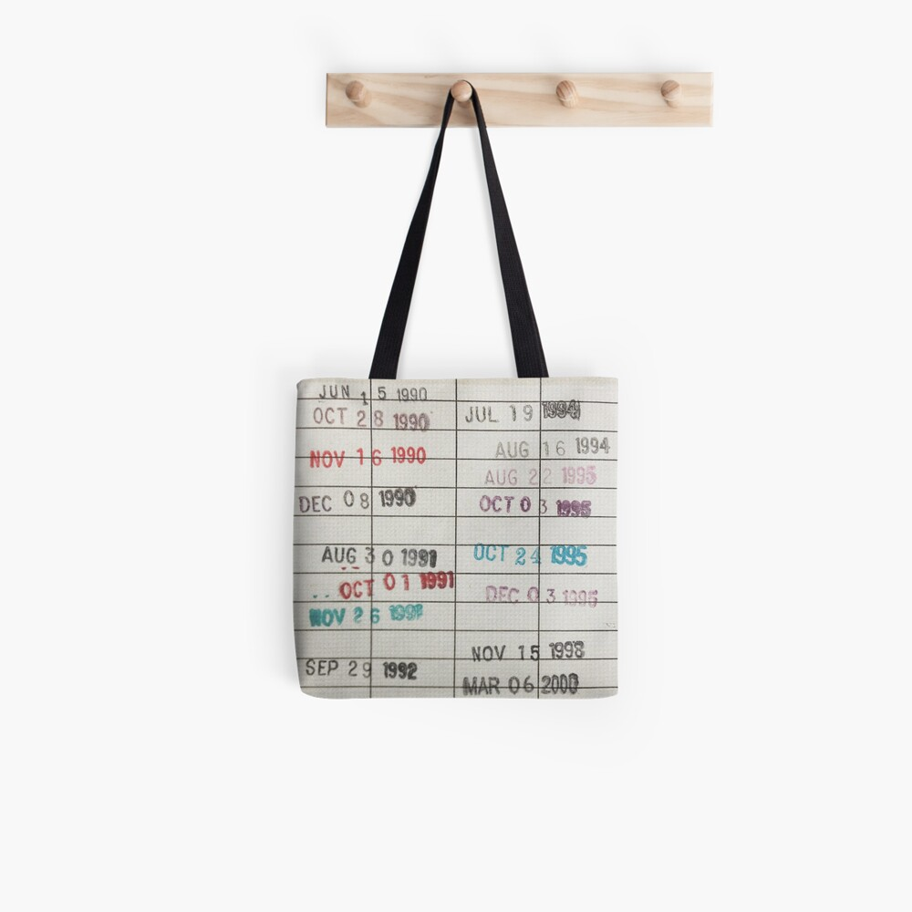 Library Cards Tote Bag