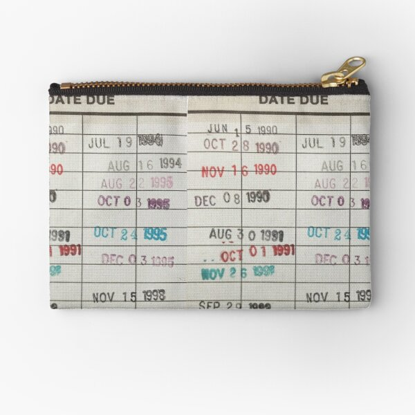Library Cards Zipper Pouch