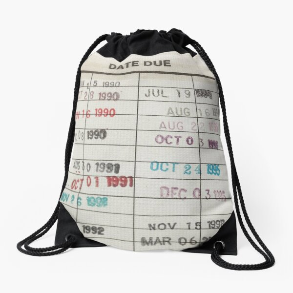Library Cards Drawstring Bag