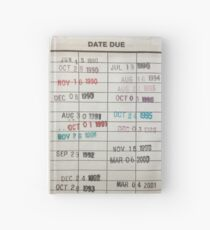 Library Cards Hardcover Journal