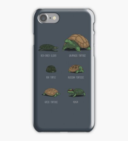 Know Your Turtles iPhone Case/Skin