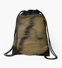 Camouflage by Water Drawstring Bag
