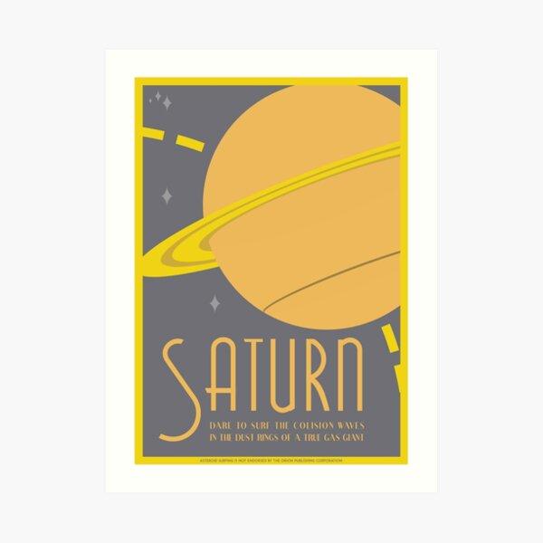 Saturn Art Deco Space Travel Poster Art Print
