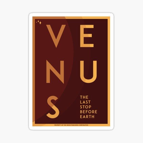 Art Deco Space Travel Poster - Venus Sticker