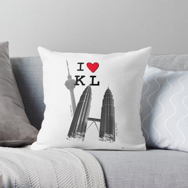 I Love KL Tower & KLCC Throw Pillow