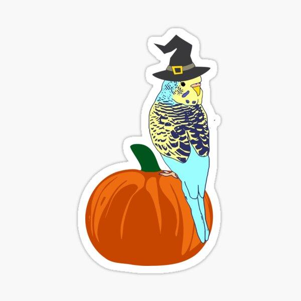halloween budgie Sticker