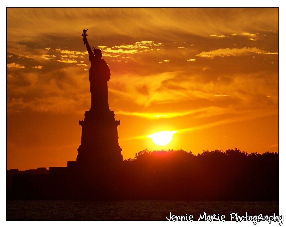 Standing on Liberty Island by J.C  Photography