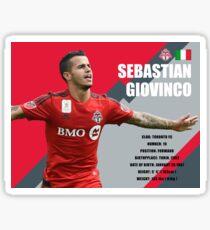 Sebastian Giovinco Toronto FC Infographic Sticker