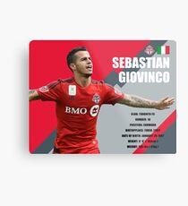Sebastian Giovinco Toronto FC Infographic Metal Print