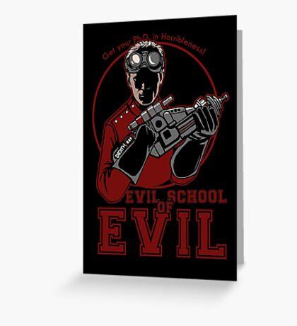 Dr. Horrible's Evil School of Evil CARD Greeting Card