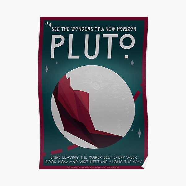 Art Deco Space Travel Poster - Pluto Poster