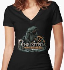 Rumplestiltskin Women's Fitted V-Neck T-Shirt