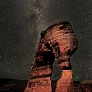 Milky Way above Delicate Arch in Arches National Park USA by Martin Lawrence