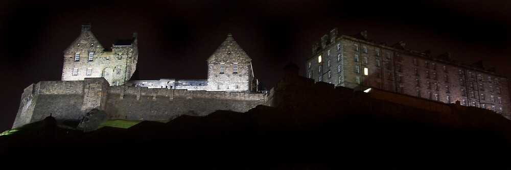 Edinburgh Castle at Night by Chris Clark