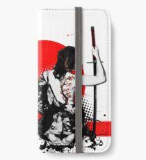 Trash Polka - Samurai femelle Étui portefeuille/coque/skin iPhone