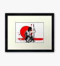Trash Polka - Weibliche Samurai Gerahmtes Wandbild