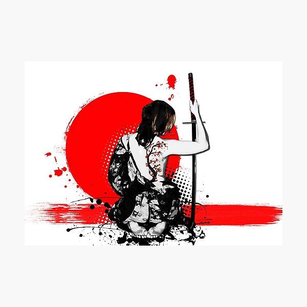 Trash Polka - Female Samurai Photographic Print