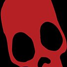 Red Calaveras Skull by MonkeyManLabs