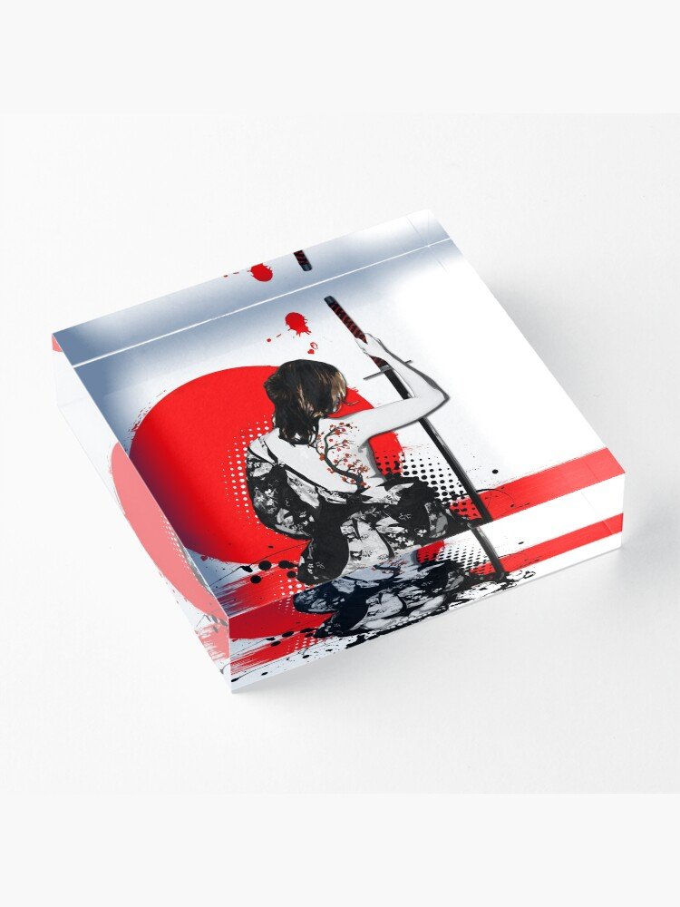 Alternate view of Trash Polka - Female Samurai Acrylic Block