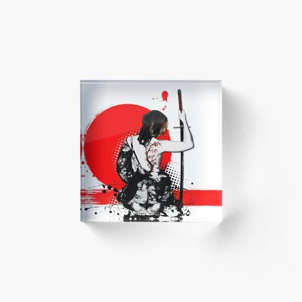 Trash Polka - Female Samurai Acrylic Block