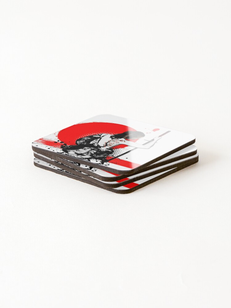Alternate view of Trash Polka - Female Samurai Coasters (Set of 4)