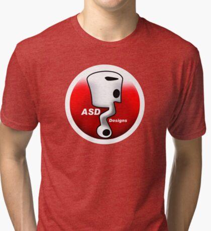 ASD Red and White logo Tri-blend T-Shirt