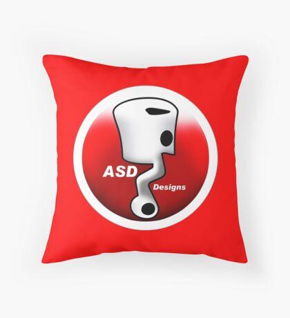 ASD Red and White logo Throw Pillow